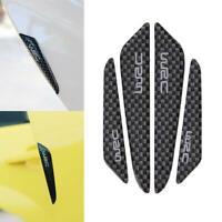4pcs Carbon Fiber Car Side Door Edge Anti-scratch Strips Protector Guard Trim