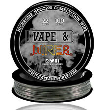 Vape and Wires Nichrome 80 Ni80Cr20 Competition Wire 22 Gauge AWG 100ft Roll