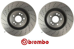 For Mercedes GL350 450 AMG ML550 Pair Set of 2 of Front Disc Brake Rotors Brembo