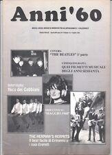 ANNI '60 N°4 LUGLIO 1994 COVERS BEATLES HERMAN HERMITS QUEI FILMETTI MUSICALI ..