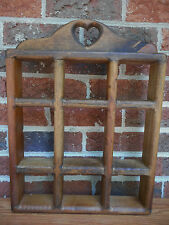 Vintage Country Style Wall Wooden Shelf Display Rack What-Nots Home Decor Heart