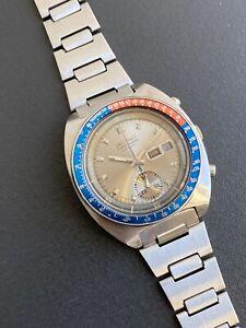 Rare Vintage Seiko Pogue Chronograph 6139-6002 Silver Dial Original Bracelet