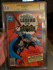 Untold Legend of the Batman #3 CGC 7.5 Signed By Len Wein!!