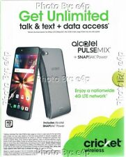 "ALCATEL PULSEMIX WITH POWER SNAPBAK 5.2"" CRICKET WIRELESS PREPAID SMARTPHONE NEW"