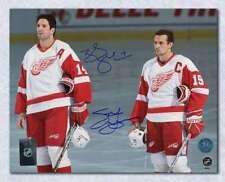 Steve Yzerman & Brendan Shanahan Detroit Red Wings Dual Signed 8x10 Photo