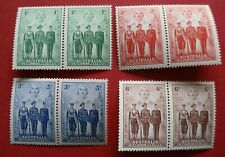 More details for sg196-sg199 1940 australia george vi australian imperial forces set in pairs mnh