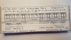 D&S Models, NER/LNER Matchboard Third etched brass coach kit