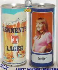 TENNENT'S GIRL SALLY STRAIGHT STEEL BEER CAN UK GLASGOW,SCOTLAND UNITED KINGDOM
