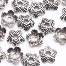 100Pcs Tibet Silver Plated Flower Spacer Bead Caps Jewelry Findings DIY 6x1.5mm