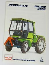 Deutz Allis Intrac 2004 1986 Brochure