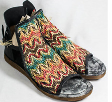 A.S.98 Rascal Fabric Nero Multicolor Wedge Sandal Women's sizes 36-41/NEW!!!