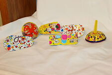 6 Vintage Tin Noise Makers 4 Spinners Bell And Ball Party Favors
