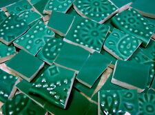 China Mosaic Tiles ~ Deep TeAl & EmboSseD - 90 China Mosaic Tiles
