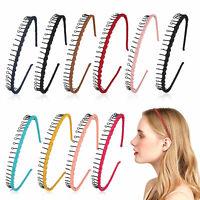 10/20PCS Metal Hair Headband Wave Hoop Band Comb Sport Accessories for Men Women