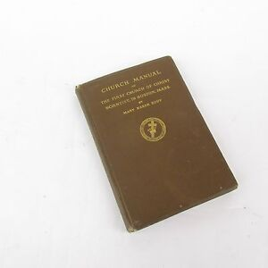 1925 Church Manual First Church of Christ Boston by Mary Baker Eddy Hardcover