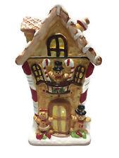 Gingerbread Boy Girl Cookie Jar Candies Treats Holiday Christmas Ceramic
