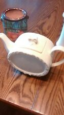 I. GODINGER & CO. WHITE PORCELAIN TEAPOT WITH BOW NICE