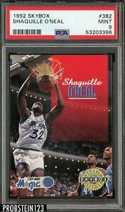 1992 Skybox Shaquille O'Neal Rookie #382 PSA 9 Mint