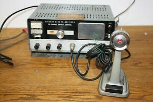 Lafayette Comstat 25A 23 Channel Crystal Tube CB Radio W/ Turner 254 Mic (Works)