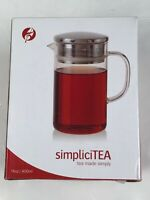 Adagio Tea SimpliciTEA 14 Oz Glass Teapot For Loose Leaf Tea Infusion NEW