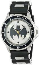 Wrist Watch Black Rubber and silver strap Batman mens / boys