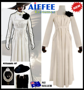 Deluxe Resident Evil Village Alcina Dimitrescu Cosplay Costume Halloween Outfit