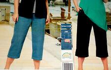 2er Pack Damen 7/8 Hose Stretch Capri Jeans + Krempelhose Gr.46 48 50 52 NEU