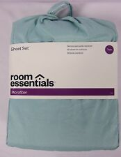 Room Essentials Microfiber Sheet Set - Aqua (Twin) NIP