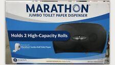 Marathon Jumbo Toilet Paper Dispenser, Holds 2 High-Capacity Rolls