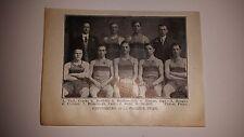 Gettysburg College University 1911-12 Basketball Team Picture RARE!