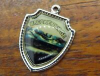 Vintage silver BRECKENRIDGE COLORADO ROCKY MOUNTAINS TRAVEL SHIELD charm #E23
