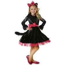 $64.99 NWT GIRLS CHILD DELUXE PINK/BLACK BARBIE CAT KITTY DRESS COSTUME XS 4 (3)