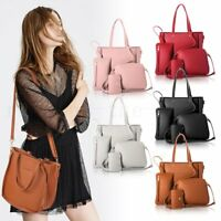 2018 4pcs/set Women Leather Shoulder Tote Purse Satchel Messenger Bags Handbag