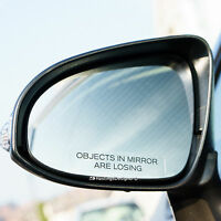 3x OBJECTS IN MIRROR ARE LOSING Funny Novelty Car/Van Vinyl Decal Stickers