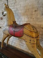 Antique Charles Dare Carved & Painted Carousel Horse Americana Folk Art