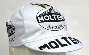 Molteni Vintage Team Cycling Cap in White - Made in Italy by Apis