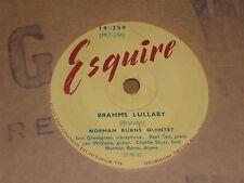 """Norman Burns Quintet """"Brahms Lullaby"""" Esquire 78"""