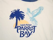 Captain Morgan Rum Parrot Bay Soft Ringer Beer Liquor T Shirt L