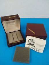 Vintage Wittnauer Watch Presentation Box & Storage Box (Only) with Manual