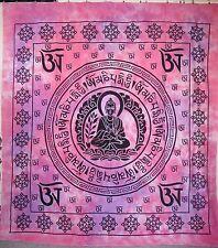 Beau Bouddha Om Grand Jeté de lit teinture ROSE ET VIOLET 210x230cm