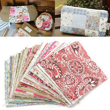 100pc 10x10cm Square Floral Cotton Material Sewing Craft DIY Patchwork Cloth