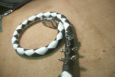biker whip getback ULTIMATE whip BLACK & WHITE  SKULLS &SPIKES BY STITCH!!!!