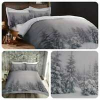 Fusion STARRY NIGHT Xmas Winter Scene Duvet Cover Set