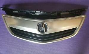 Fits NEW ACURA TL 12-14 Front Upper Grille Satin Finished w/ EMBLEM w/ Moulding