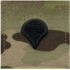 "MULTICAM U.S. Made SPEC-4 CPL Rank Insignia ""Hook & Loop"" Official Rothco 1793"