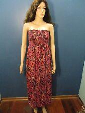 Plus Size 1X multi-color STRAPLESS MAXI dress by L8TER