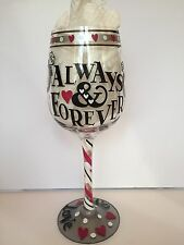 Top Shelf Wine Glass Always And Forever Mr Mrs