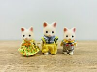 Sylvanian Families Silk Cat Family Fred Lulu Tiffany Golightly Set 2009