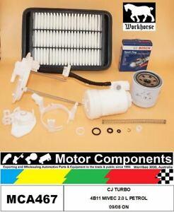 SPARK PLUGS & FILTER KIT for MITSUBISHI LANCER CJ TURBO 4B11 MIVEC 2.0 L PETROL