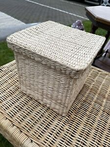 Rattan Seagrass Woven Square Basket/Box With Lid